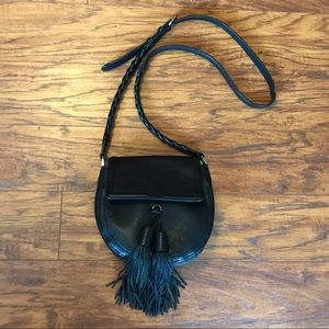 Rebecca Minkoff Black Isobel Saddle Bag Crossbody
